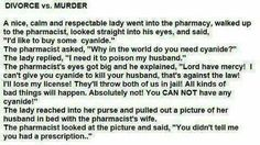Divorce vs Murder