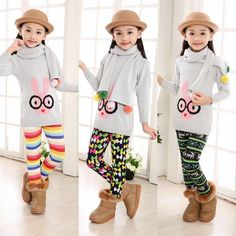 2015 Next Winter Autumn Thick Warm Girls Leggings Pants Kids children girl's Pants Thermal Trousers