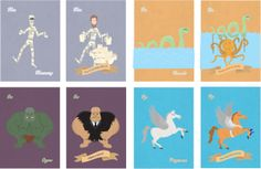 A - Z of Myths about Myths by Michael Donovan, via Behance