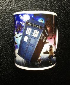 Dr Who Tardis under Dalek Attack Mug by Hx5Designs on Etsy, £6.99