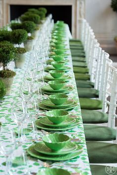 We're taking you to a luncheon outing in London, celebrating the lettuce ware collection.