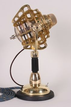 Girl Genius Radio Thater Microphone from steampunkworkshop.com