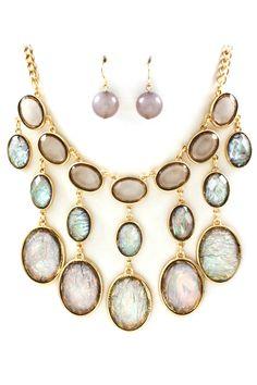 Blue Diamond Vitrail Etta Necklace - Emma Stine Limited