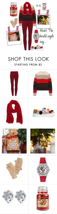 """So much room for festivities"" by jessica-marks ❤ liked on Polyvore featuring rag & bone, Joshua's, Improvements, Charlotte Russe, Mixit, Yankee Candle, Home Decorators Collection, Christmas, cosy and yule"
