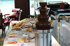 Uniworld River Beatrice Enchanting Danube Afternoon Tea Chocolate Fountain and Spread http://www.tipsfortravellers.com/river-cruise-tips-tricks-european-river-cruising-advice/