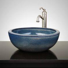 Ditmar Hand-Glazed Vessel Sink - Ocean Blue