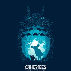 """Forest Spirits"" by ddjvigo T-shirts on sale until 16th September at Othertees.com Pin it for a chance at a FREE TEE! #totoro #ghibli #myneighbortotoro #miyazaki"