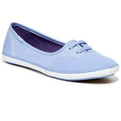 Keds Teacup Sneaker ($30) ❤ liked on Polyvore featuring shoes, sneakers, periwinkle, round cap, keds sneakers, laced shoes, laced up shoes and keds