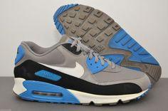 online retailer 3b8a3 f9083 NIKE AIR MAX 90 ESSENTIAL MEN SPORT GREY BLACK PHOTO BLUE 537384-004 SIZE  13  Nike  RunningCrossTraining