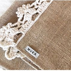 Crochet Home, Knit Crochet, Diy And Crafts, Arts And Crafts, Basic Crochet Stitches, Burlap, Sewing Projects, Creations, Textiles