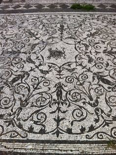Mosaic floor, Ostia Antica, old port city of ancient Rome
