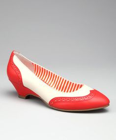 Take a look at this Tangerine Ida Spectator Shoe by B.A.I.T. on #zulily today!