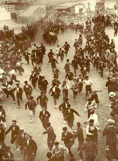#Pamplona #Navarra. Encierro 1924 #Sanfermines