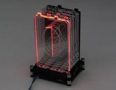 Acrylic RGB Retro Nixie Digit; Acrylic laser cut, WS2812 Strip by Folker.