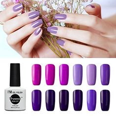 fb655996fcb Vrenmol Gel Nail Polish Set 12pcs Purple Soak off UV LED Nail Polish Nail  Lacquers Nail Art Manicure Kit