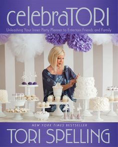 'celebraTORI: Unleashing Your Inner Party Planner to Entertain Friends and Family' by Tori Spelling ---- Tori Spelling, Hollywood's favorite mom and bestselling author, will show readers the ins and outs of entertaining for all occasions--. Great Books, New Books, Thing 1, Diy Party, Party Ideas, Party Fun, Event Ideas, Beach Party, Event Planning