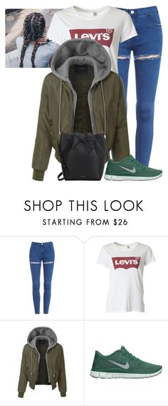 """""""Unbenannt #3727"""" by mund-tot ❤ liked on Polyvore featuring Levi's, LE3NO, NIKE and Mansur Gavriel"""