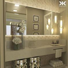 Bathroom mirror: tips for choosing the ideal model - Home Fashion Trend Bathroom Sink Decor, Bathroom Mirror Lights, Diy Bathroom Vanity, Bathroom Colors, Bathroom Interior Design, Classic Cabinets, Casa Clean, Grey Bathrooms, Amazing Bathrooms