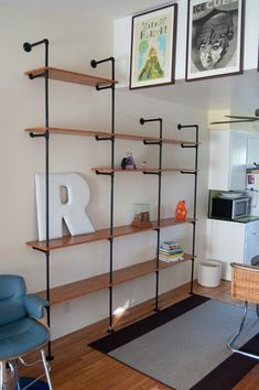 Morgans DIY Plumbing Pipe Shelving