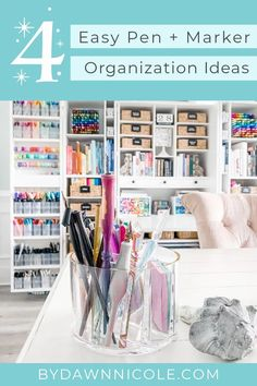 These marker storage solutions are pretty, easy, and affordable ways to stay organized!