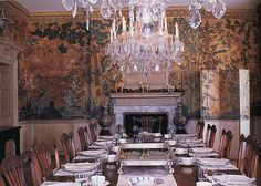 Dining Room, David Adler, Reed House, Chinoiserie, Classic, Elegant, Chandelier, The Colonial Revival House