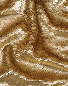 Matte Sequinned Tulle Fabric - Gold
