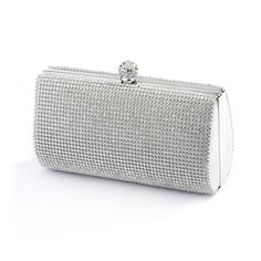 Gorgeous Two Sided Crystal Minaudiere Clutch Purse - Affordable Elegance Bridal -