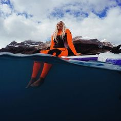 GoPro Featured Photographer - @nickkeating #ProTip: Color has perhaps one of the strongest impacts on our initial reading of an image - and with that bright orange wetsuit, Izzi instantly becomes the focal point, letting the rest of the scene slowly unfold in our periphery. Use color to not only make an image more dynamic, but as a tool in directing the viewers eye through a scene.
