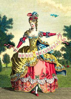 Cartolina - Cartolina card - Merci Beaucoup! CC199