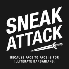 Shop Sneak Attack RPG dungeons and dragons stickers designed by pixeptional as well as other dungeons and dragons merchandise at TeePublic. Dungeons And Dragons Merchandise, Dungeons And Dragons Memes, Rogue Dnd, Arcane Trickster, Dnd Funny, Sneak Attack, Dragon Memes, Dnd Characters, Barbarian