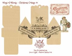 Wings of Whimsy Christmas Cottage 19 of 25 Free Printable 3d Cottage Printing all 25 now for my next year tree :-)
