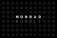 Monrad Bundle Offer - Sans + Grotesk by Jan-Christian Bruun on @creativemarket