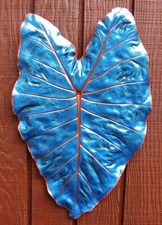 Concrete elephant ear Alocasia leaf casting by ConcreteImpressions, $29.00