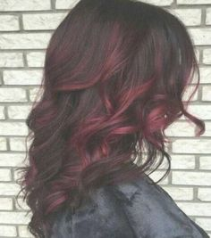 Ideas Hair Color Ombre Burgundy Balayage For 2019 Hair Color Dark, Ombre Hair Color, Hair Color Balayage, Brown Hair Colors, Dark Hair, Red Highlights In Brown Hair, Brown Ombre Hair, Red Ombre, Auburn Ombre