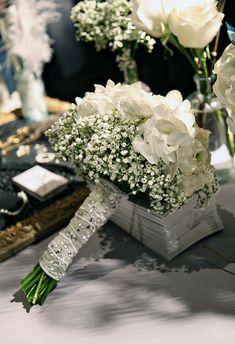 Hydrangea/babies breath bouquet simple diy wedding bouquet ideas