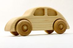 Kids Woodworking Projects, Woodworking Toys, Popular Woodworking, Wood Projects, Wooden Toy Trucks, Wooden Car, Volkswagen, Push Toys, Wood Toys