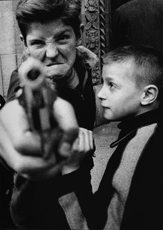 1955: William Klein's 'Gun No. 1, New York'