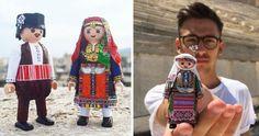 19χρονος Πέτρος ντύνει φιγούρες Playmobil με παραδοσιακές ελληνικές φορεσιές