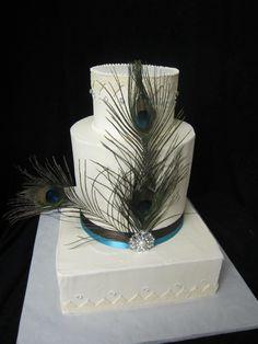 Peacock Wedding Cake  www.thesugarshackbakery.com
