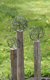 My rented garden: Mitt senaste projekt, ståltrådsbollar