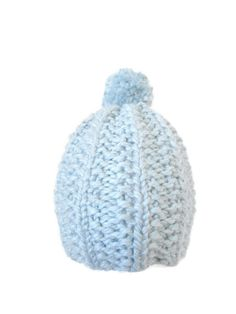 Knit Wool Hat for Women  Light Blue Wool Hat by stickshooksandyarn