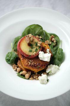 Warm Roasted Pumpkin   Apple Salad  : The Healthy Chef – Teresa Cutter