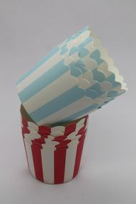 100 Red and Baby Blue Greaseproof Paper Baking Cups Cake Cups Cupcake Cups Ice Cream Cups Treat Dessert Portion Cups Muffin Paper Cups, $14.5