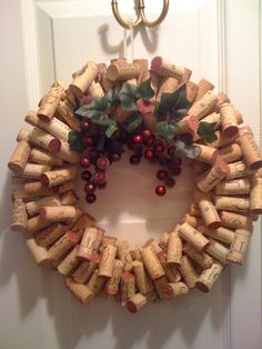 Crafting with saved objects, my newest cork wreath