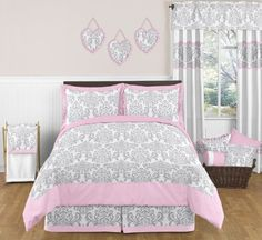 Pink and Gray Elizabeth Childrens and Kids 3 Piece Full / Queen Girls Bedding Set, http://www.amazon.com/dp/B00CM9KYQC/ref=cm_sw_r_pi_awdm_9QDQvb1SP1REZ