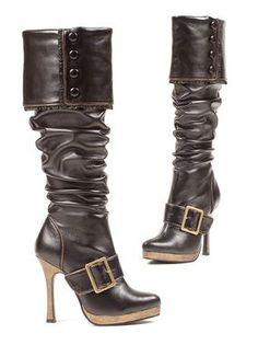 Steampunk Pirate tall boots. Grace Boot $93.00 AT vintagedancer.com