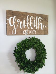 This beautiful last name sign is made from solid wood and will include your name and established date. Please leave your established date at