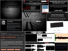 SOPA Blackout Collage