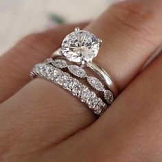 """804 Likes, 5 Comments - JEWELSBERRY (@jewelsberry) on Instagram: """"Beautiful 2.3ct Round Cut Engagement Diamond Ring! YAY OR NAY? TAG 3 FRIENDS THAT LOVE THIS AND…"""" #engagementrings"""