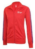 Nike Womens Red/Magenta 419693 Zip Up Tracksuit Top